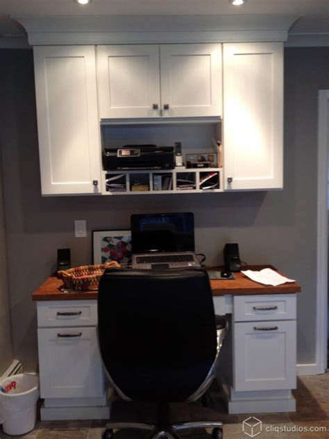 using kitchen cabinets for home office fresh white kitchen with built in desk traditional