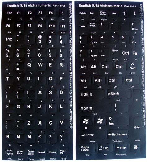 Replacement Keyboard Letters