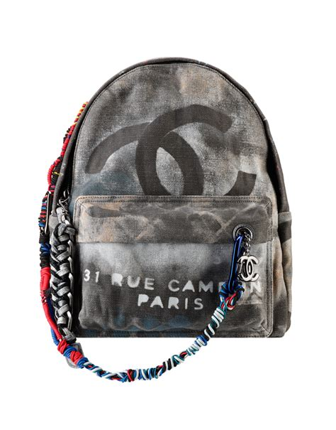 Tas Jansport Canvas Mini Bc backpack graffiti printed canvas backpack embellished with