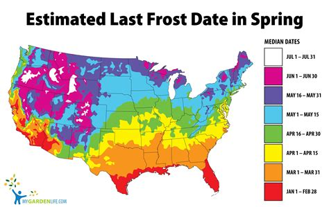 Frost Map with Dates   My Garden Life