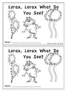 Seuss Emergent Reader - Lorax, Lorax, What Do You See