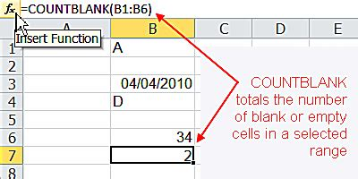 tutorial excel web app count blank or empty cells in excel
