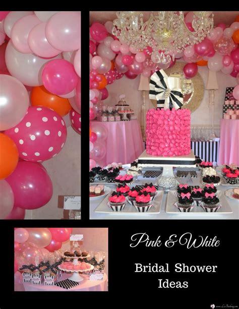 pink and black bridal shower ideas pink black white bridal shower liz bushong