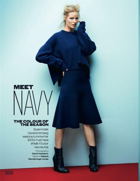 Fashion Navy caroline winberg dons navy looks for uk by david