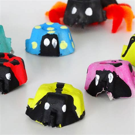 crafts with egg cartons bugs egg crafts easy peasy and