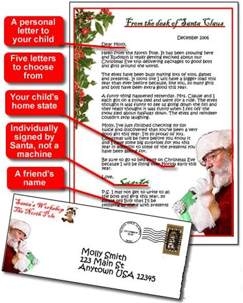 personalised letter from santa charity personalized letter from santa