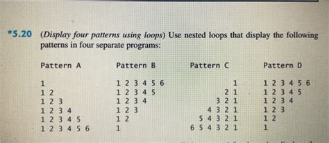 pattern questions in python solved 5 20 display four patterns using loops use neste