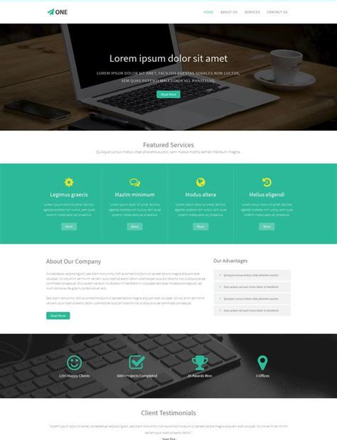 html5 wireframe template one is a free bootstrap html5 website template free