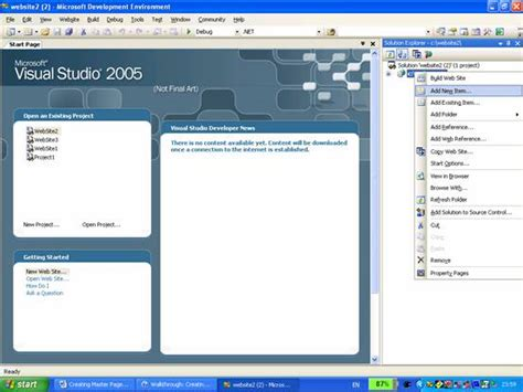templates for asp net web pages asp net working with master pages it training and