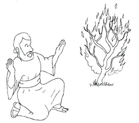 Image Moses And Burning Bush Coloring Page Download Moses Burning Bush Coloring Page