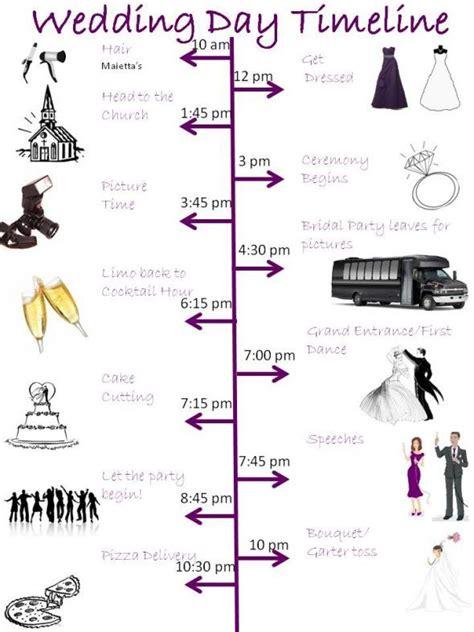 wedding day timeline template cyberuse