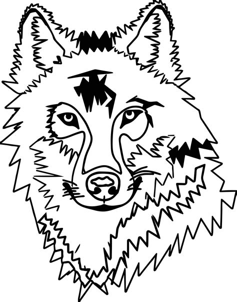 coloring page of a wolf s face any wolf face coloring page wecoloringpage