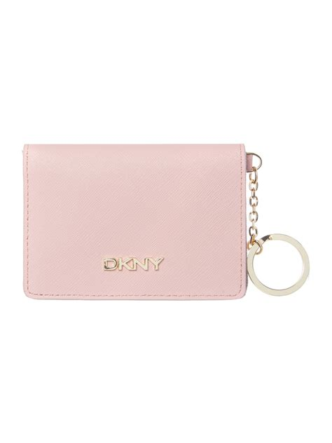 Leather Key Holder Pink dkny saffiano light pink card holder with key ring in pink