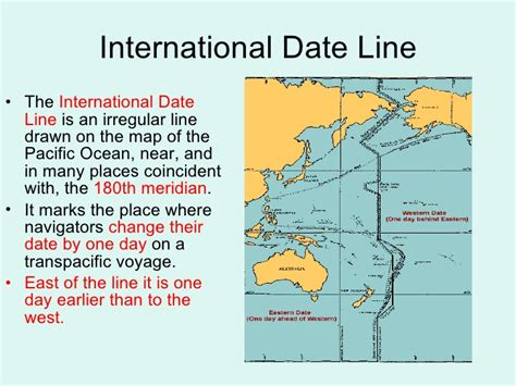 international date line map chap 3 locating places