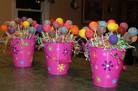 centerpieces for birthday cake pop centerpieces for childrens birthday