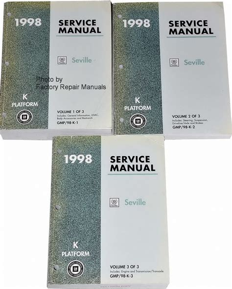 service and repair manuals 1998 cadillac seville seat position control 1998 cadillac seville factory service manual set original shop repair factory repair manuals