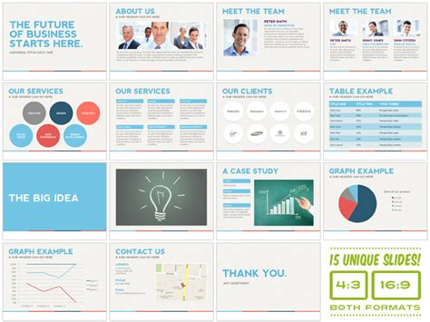 stock pitch template universal pitch deck one powerpoint presentation