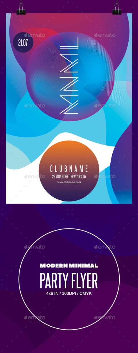 Modern Minimal Party Flyer Template By Prowebmedia Graphicriver Modern Flyer Template