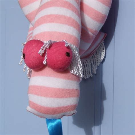 a sock puppet snake hull sock bunny maker to the world they are pink