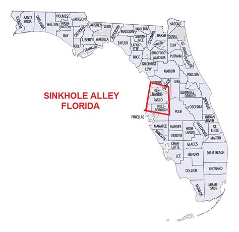 Sink Holes Usa by Maps Of Sinkhole Homes Sinkhole Maps In Florida And The