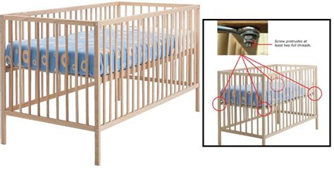 Ikea Recalls Sniglar Cribs Over Possible Mattress Collapse Crib Mattress Recalls