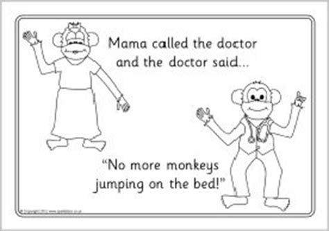 coloring pages monkeys jumping bed five little monkeys jumping on the bed colouring sheets