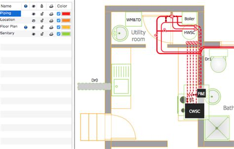 how to make floor plans creating a residential plumbing plan conceptdraw helpdesk