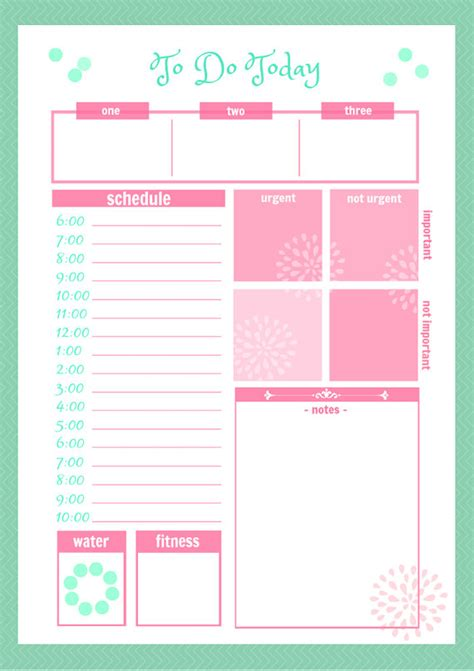 free printable etsy planner cute daily docket printable by secretowlsociety on etsy