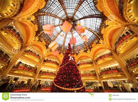 Sale Time At Galeries Lafayette by The Tree At Galeries Lafayette Editorial Image