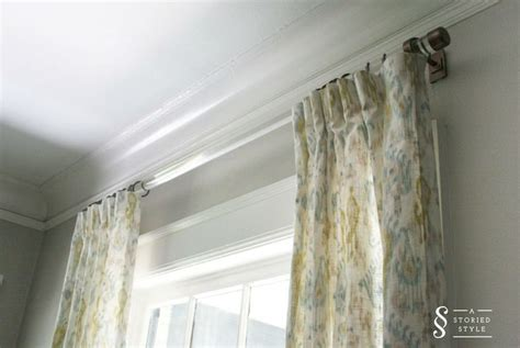 diy curtains without rods diy tutorial acrylic drapery rods a storied style a