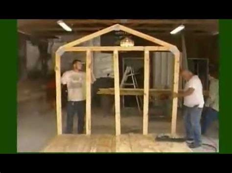 build  storage shed frame part  youtube