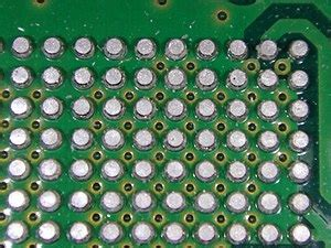 soldering integrated circuit chips grid array