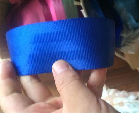 Webbing 3 8cm 20 meters roll seat belt webbing safety blue color 4 8cm wide 5 bars in seat belts