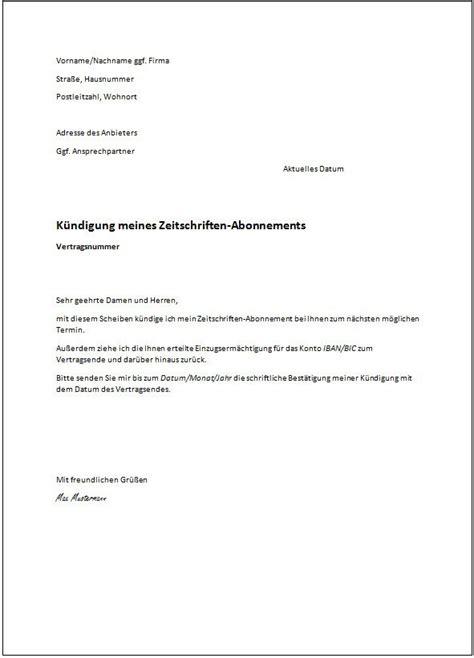 muster k 252 ndigung mietvertrag k 252 ndigung vorlage fwptc