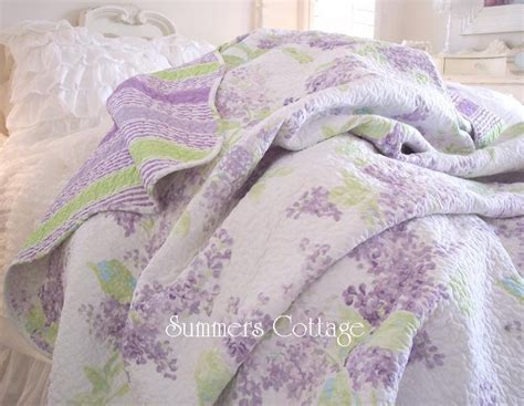 shabby chic purple shabby cottage chic lavender wisteria lilac quilt pillow sham s quilt and cottages