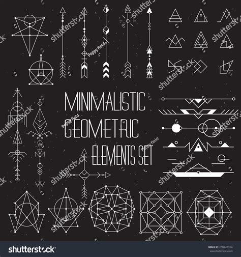 hipster design elements vector big set of vector minimalism geometry hipster design