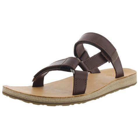 slide sandals teva 3524 womens leather flat slide sandals shoes bhfo ebay