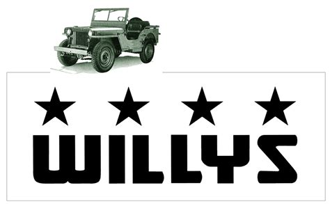 willys jeep logo graphic express jeep willys 4 wheel drive logo decal