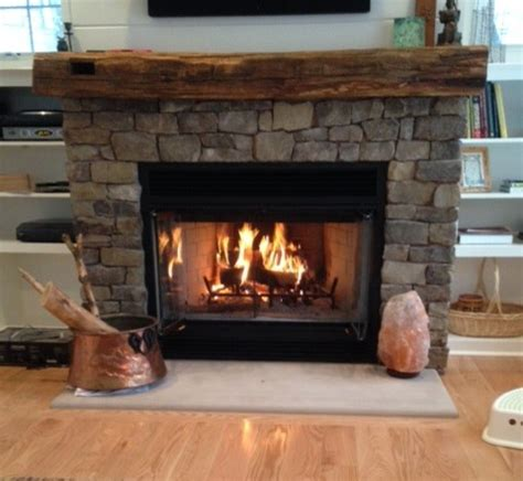 Rustic fireplace mantels rustic family room new york by real