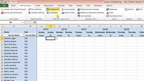 call center plan template labor scheduling template for excel call center version