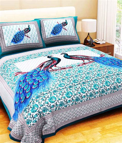 Bed Sheets by Bombay Spreads Cotton King Size Bedsheet With 2