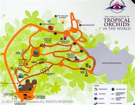 singapore botanic garden national orchid garden map