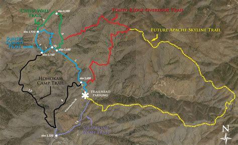 apache trail map desert mountain hiking trails desert mountain homes