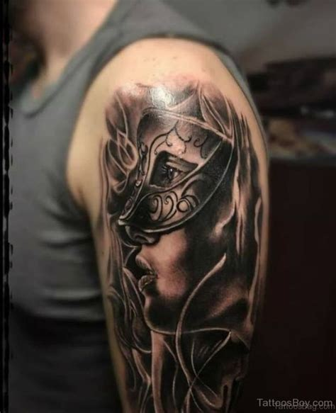 masquerade mask tattoo designs 45 great venetian mask tattoos for shoulder