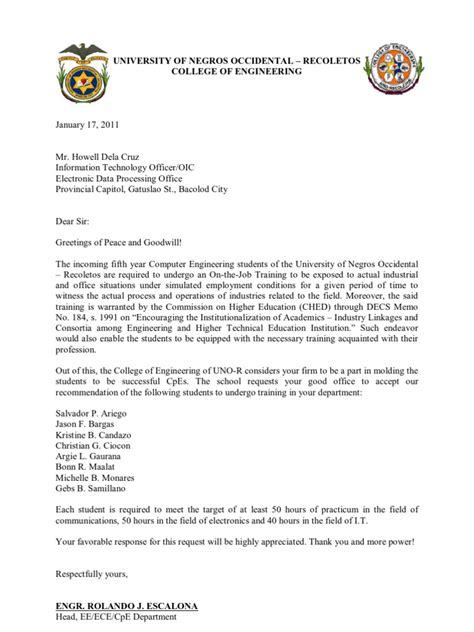 Occidental College Letters Of Recommendation ojt recommendation letter 2011