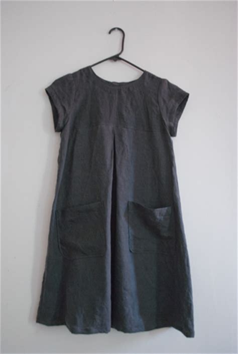 pattern for simple linen dress tent line dress sewing projects burdastyle com