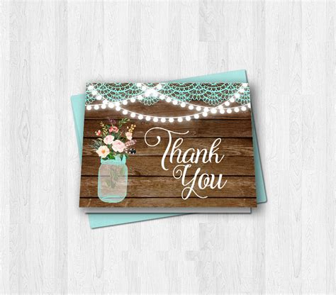 Rustic Thank You Card Template by 10 Rustic Thank You Cards Design Trends Premium Psd