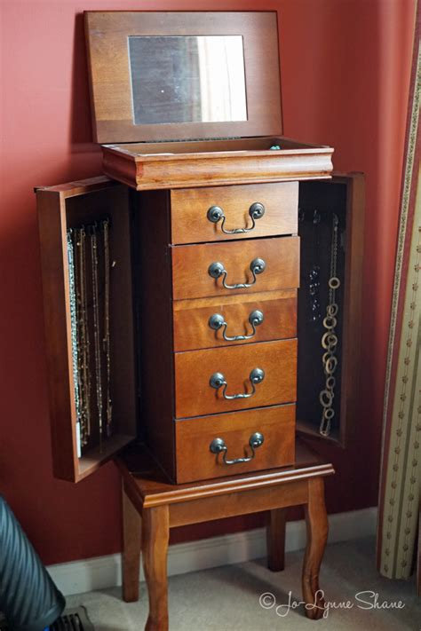stand alone jewelry armoire reader question what do you do when you are finished with