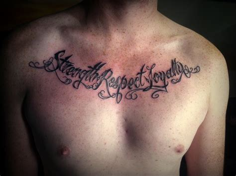 respect and loyalty tattoo designs strength respect loyalty script by
