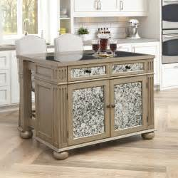 kitchen island with granite top home styles visions kitchen island set with granite top